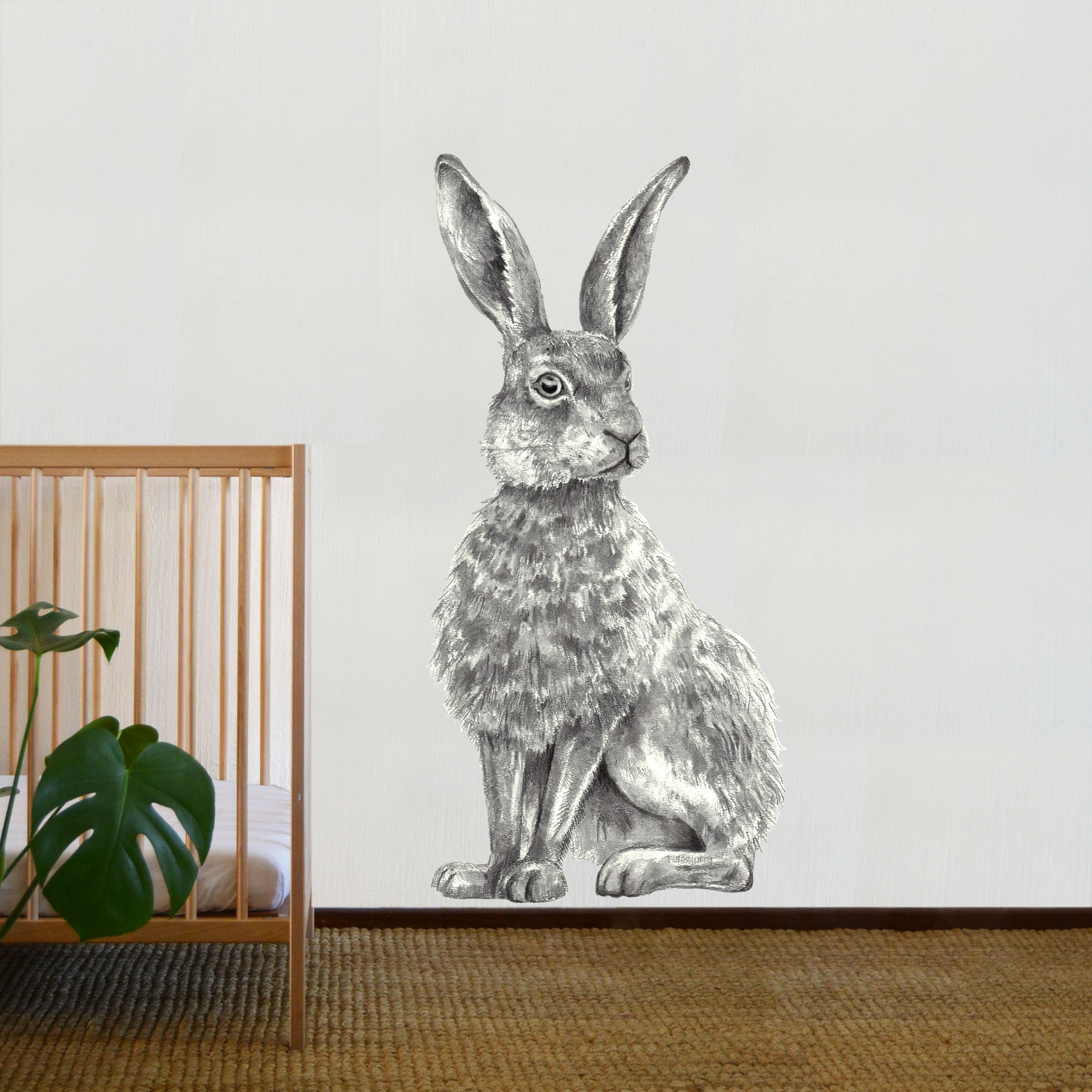 Hand - Sketched Hare Decal