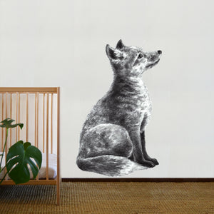 Hand - Sketched Fox Decal