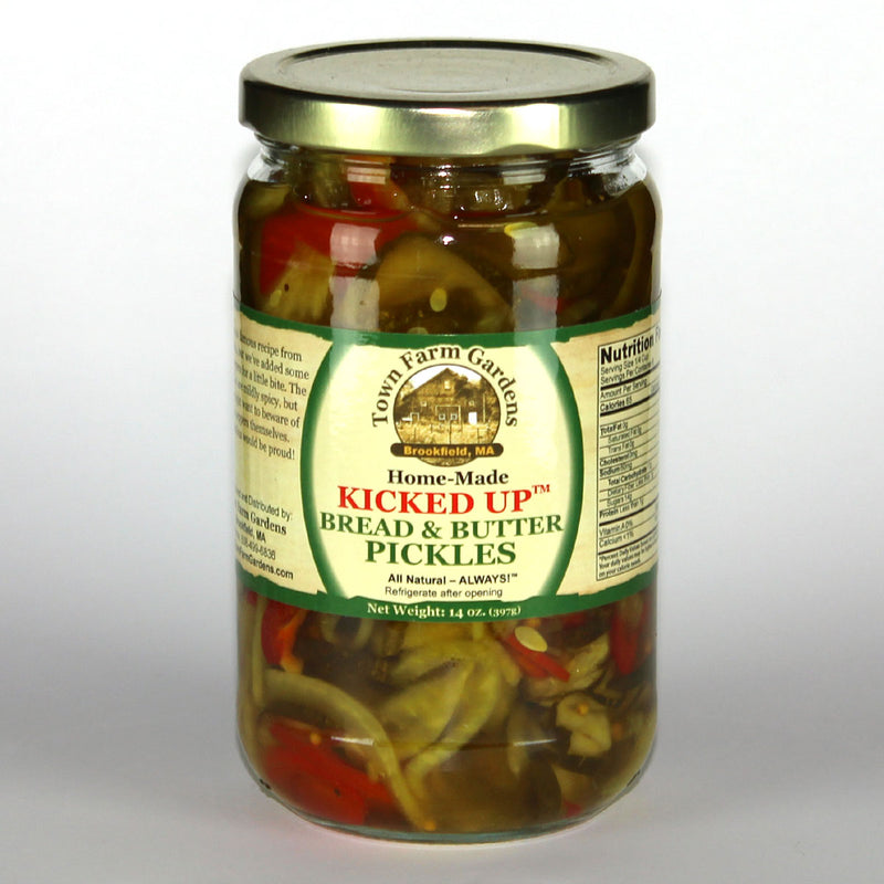 Town Farm Gardens Kicked Up Bread & Butter Pickles Front