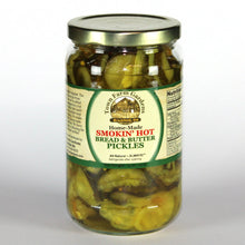Load image into Gallery viewer, Town Farm Gardens Smokin Hot Bread & Butter Pickles Front