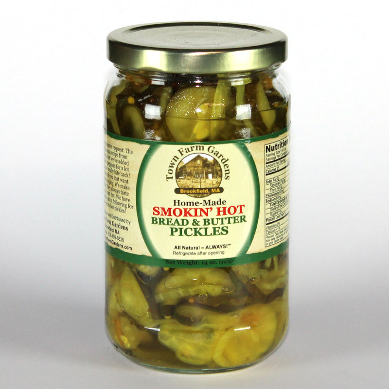 Town Farm Gardens Smokin Hot Bread & Butter Pickles Front