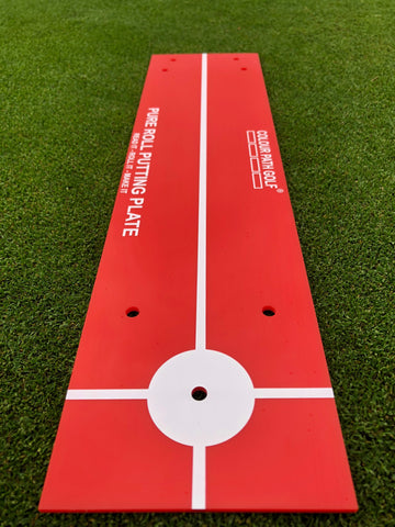 COLOUR PATH GOLF® Pure Roll Putting Plate - Red