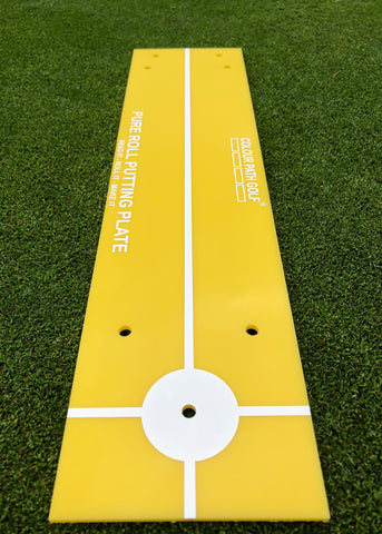 COLOUR PATH GOLF® Pure Roll Putting Plate - Yellow