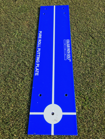 COLOUR PATH GOLF® Pure Roll Putting Plate - Blue