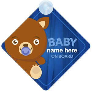 Bear Personalised Baby on Board Sign