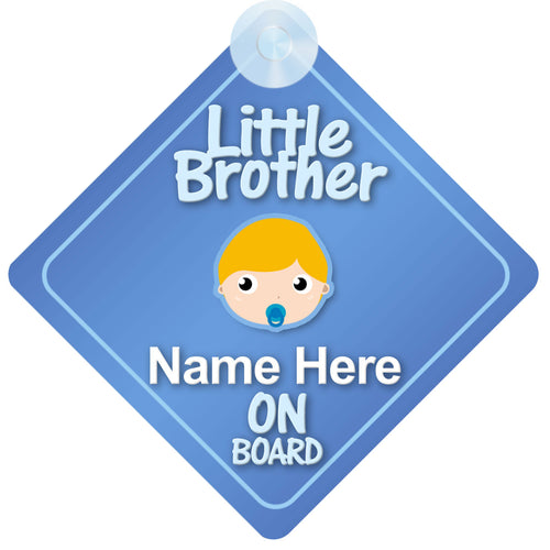 Little Brother Personalised Child on Board Sign