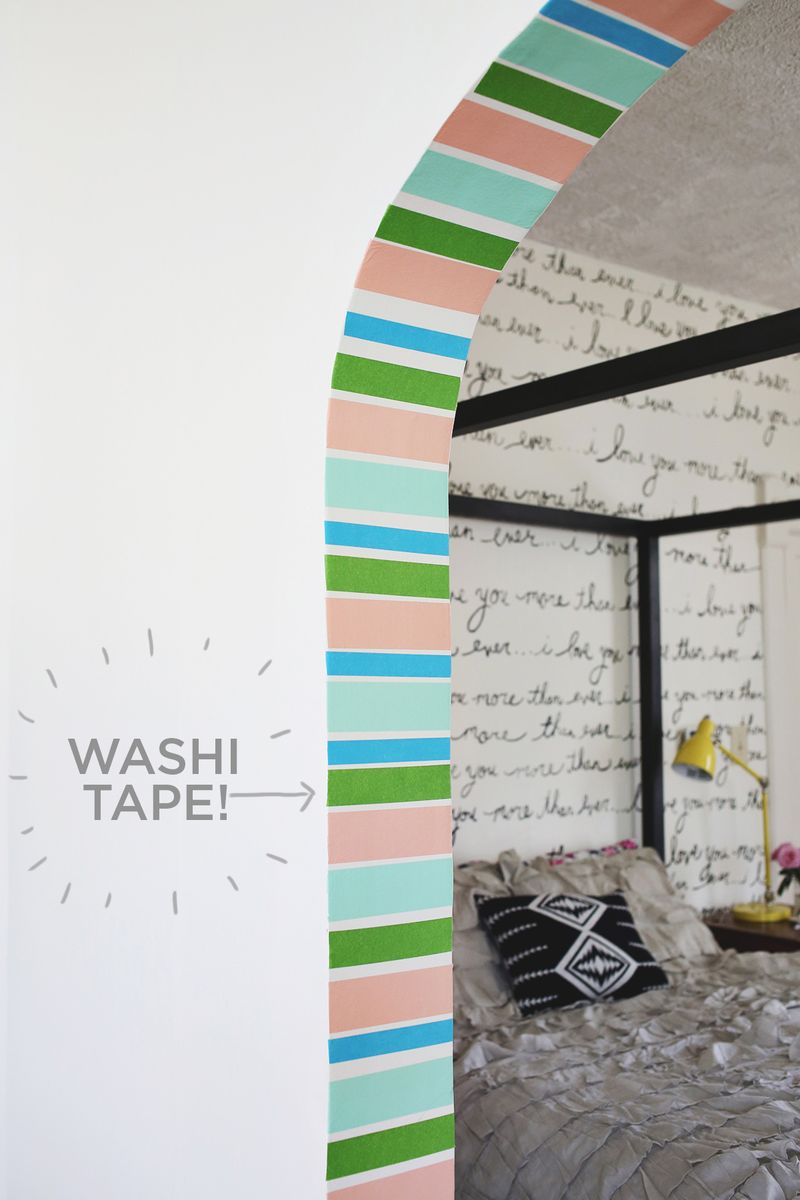 Decorate Entryway With Washi Tape