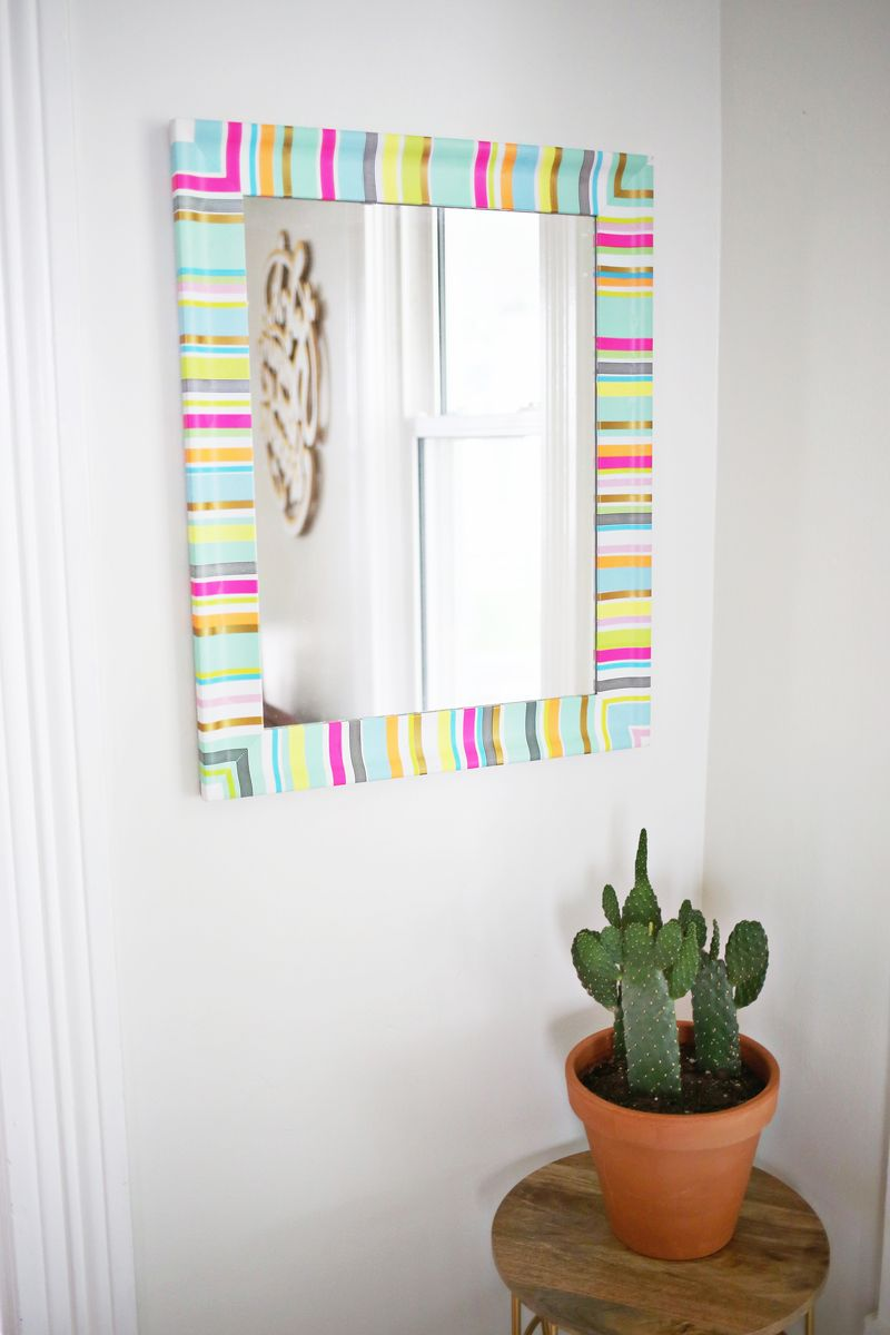 Mirror Frame With Washi Tape