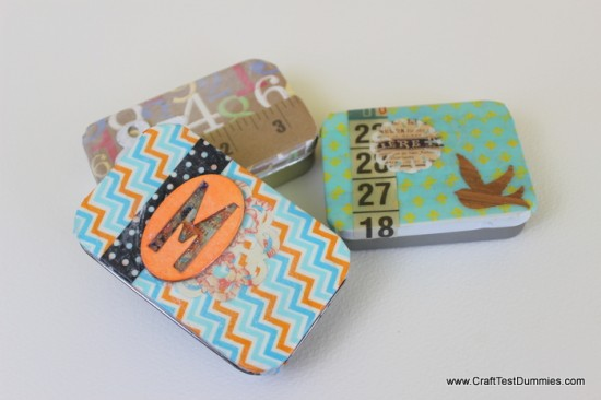 Upcycled Mint Tins With Washi Tape
