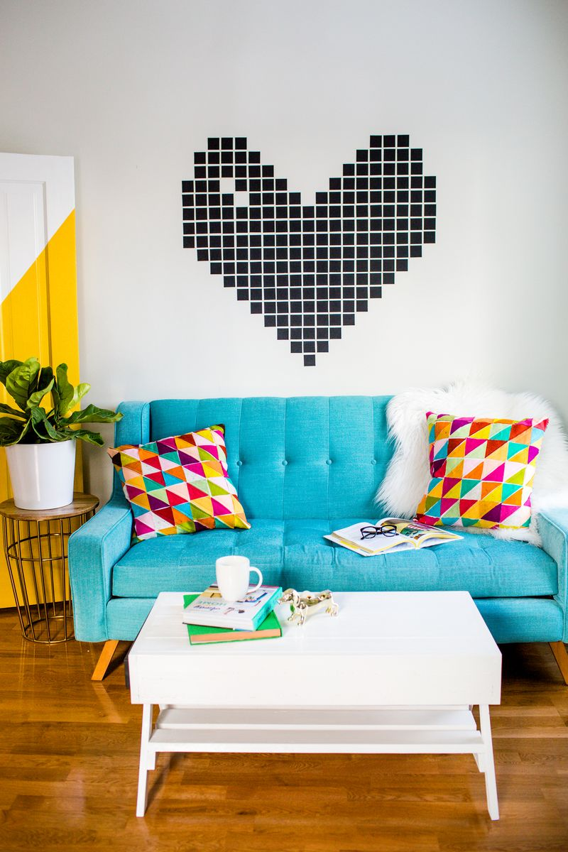 Washi Heart Wall Decor