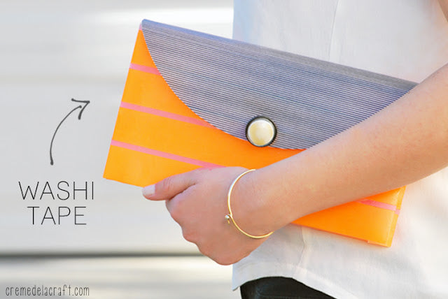 Washi Tape Clutch