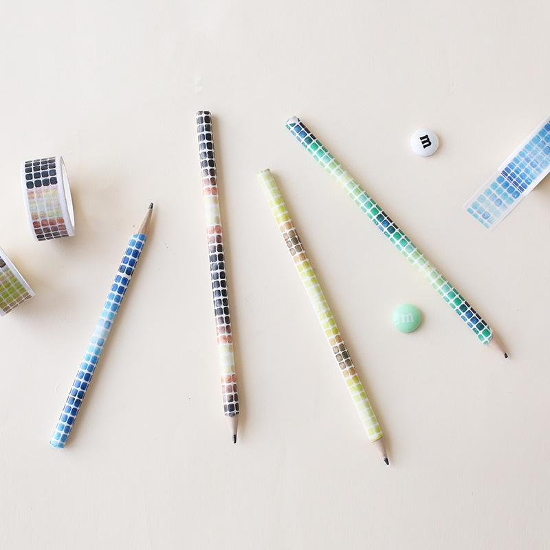 Wrapped Pencils With Washi Tape