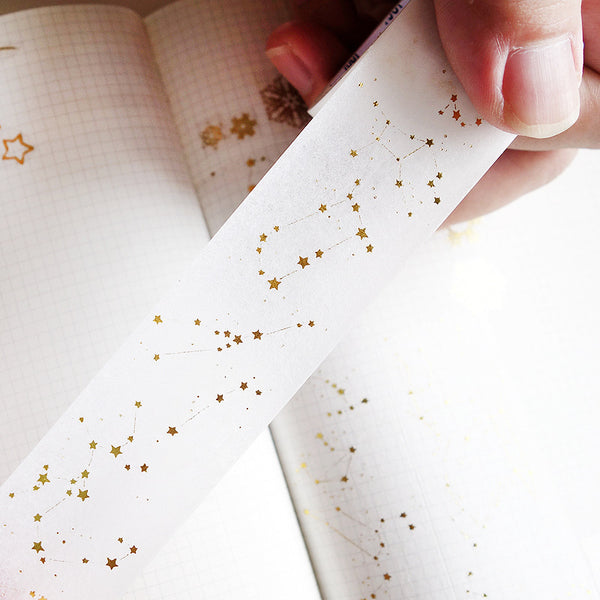 Gold Foil Constellation Washi Tape - Stationery Pal - Online Shop Study & Office Supplies Planner Addict Scrapbooking Bullet Journal Bujo Pens Notebooks