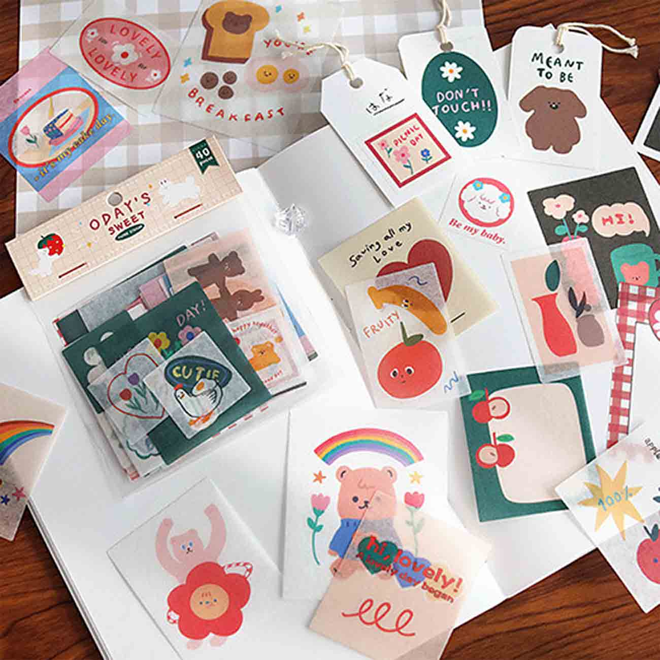Lovely Paper Stickers - Beige
