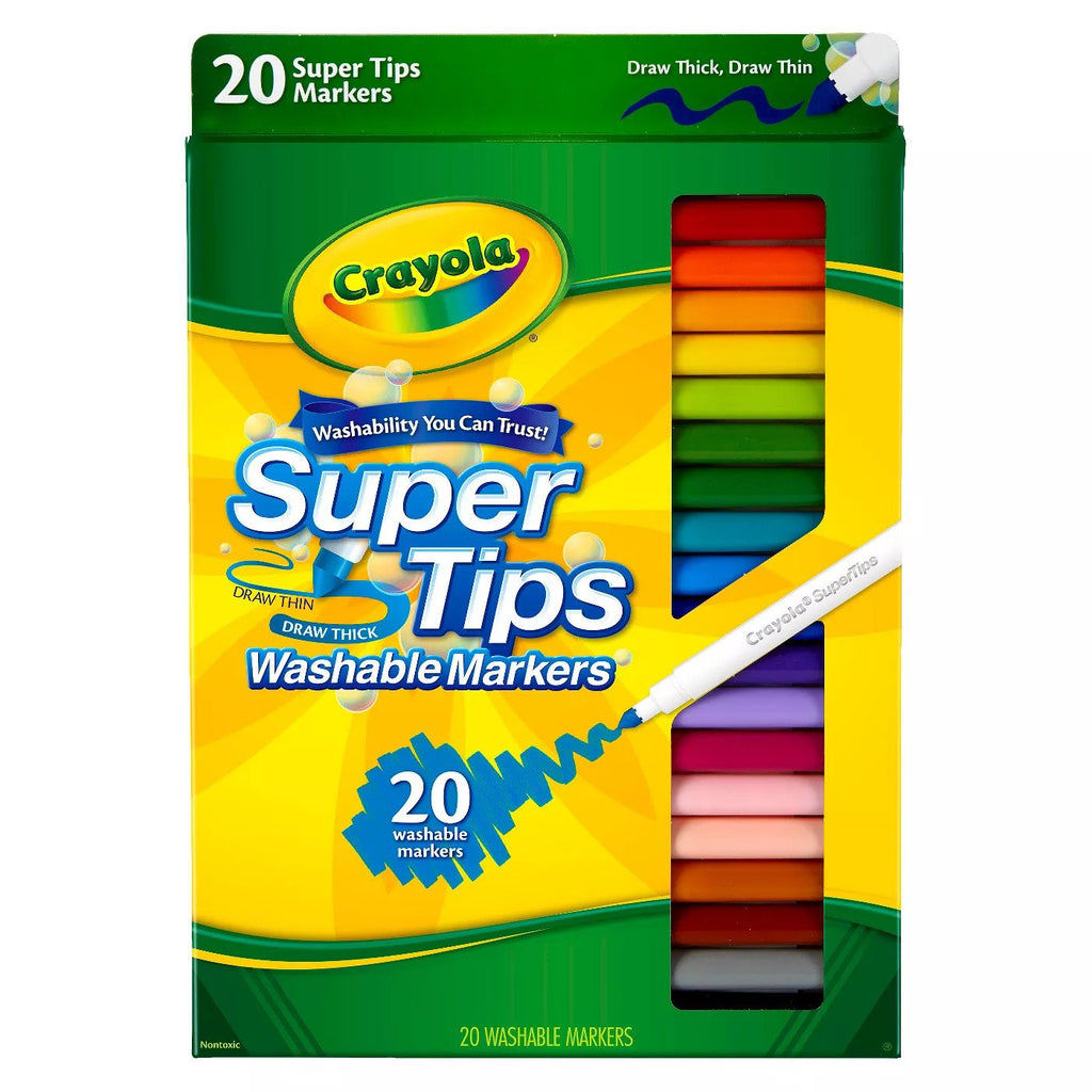 Crayola Super Tips Washable Markers 20-Color Pack