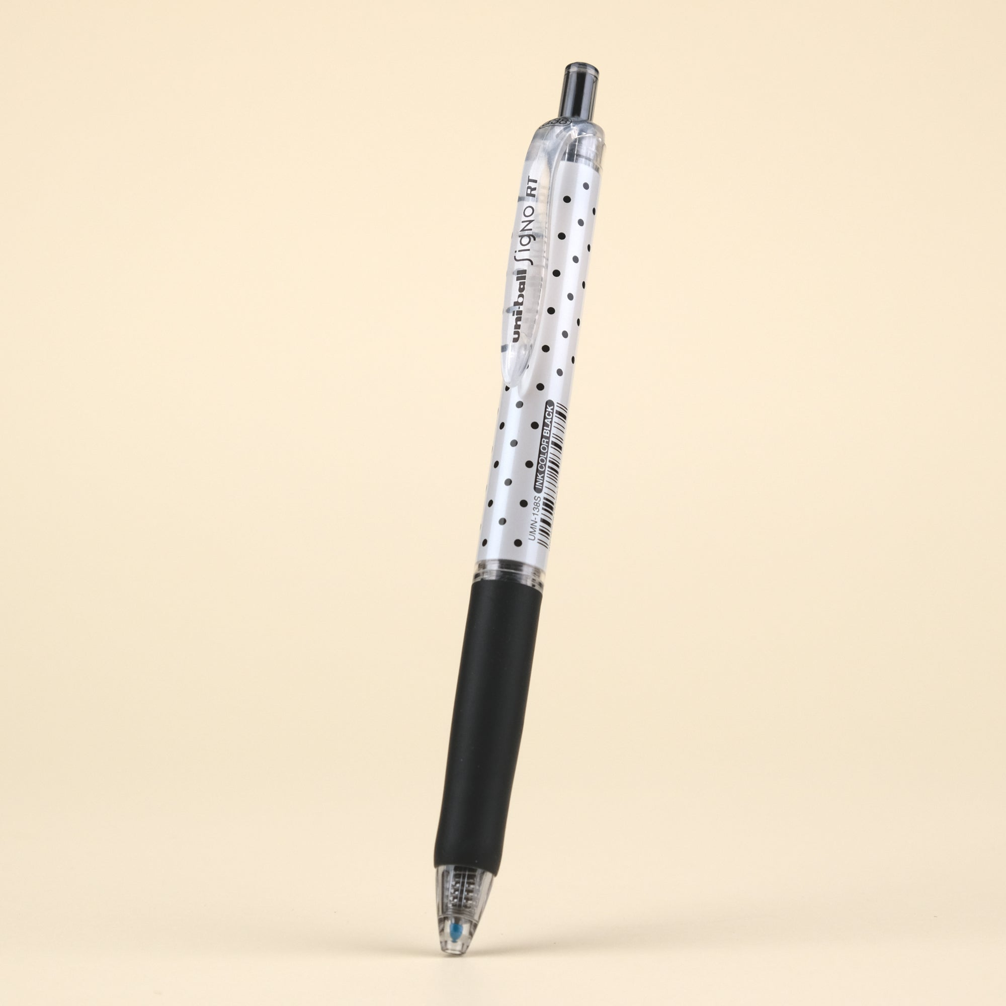 Uni-ball Signo RT Gel Ink Pen Limited Edition - Black Polka Dot - 0.38 mm