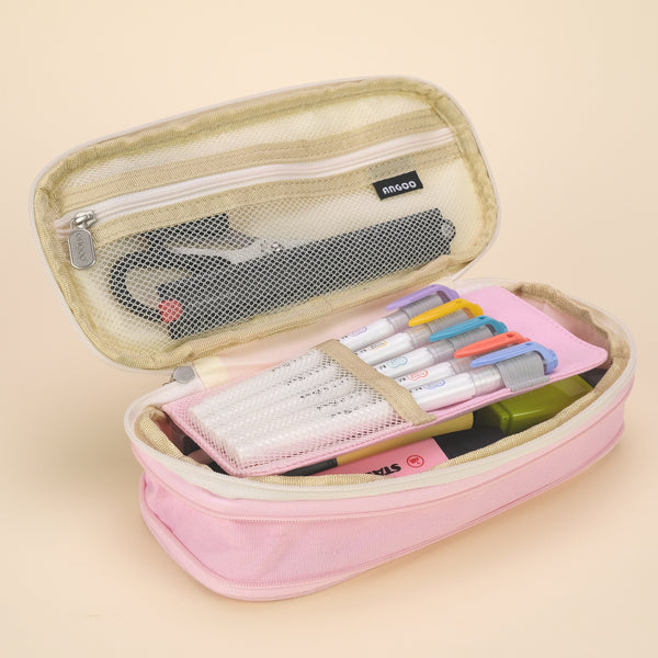Extensible Pencil Pen Case Large Version - Pink