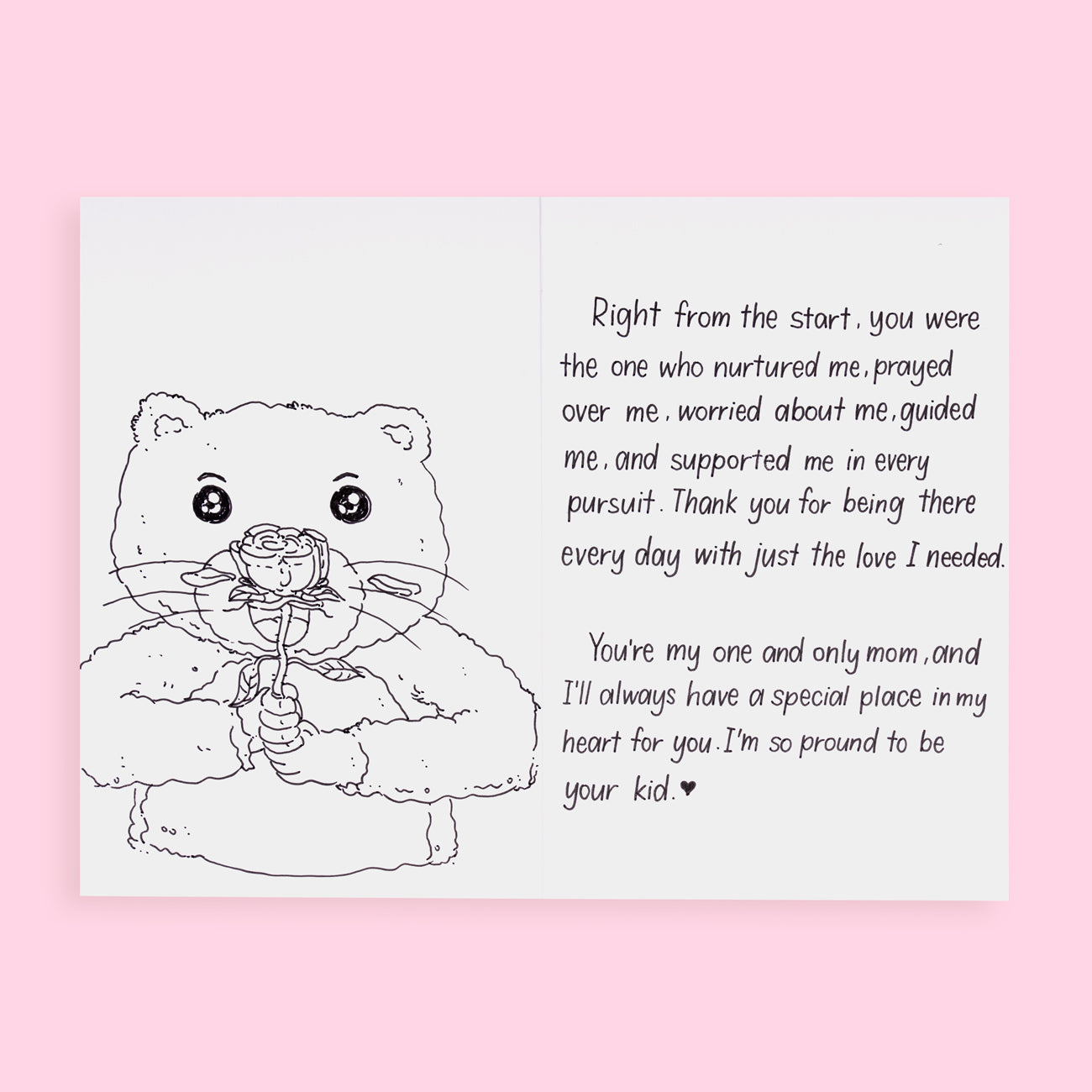 Stationery Pal Original Mother's Day Greeting Card - Pink