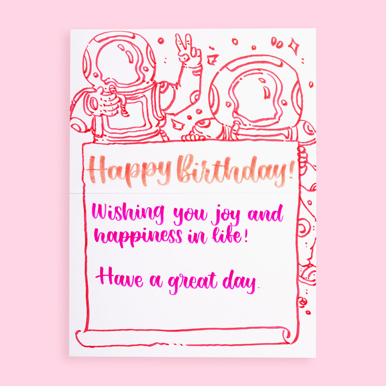 Stationery Pal Original Birthday Greeting Card - Orange