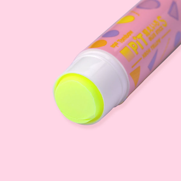Tombow Kieiro Pit Neon Yellow Glue Stick  - Limited Pink