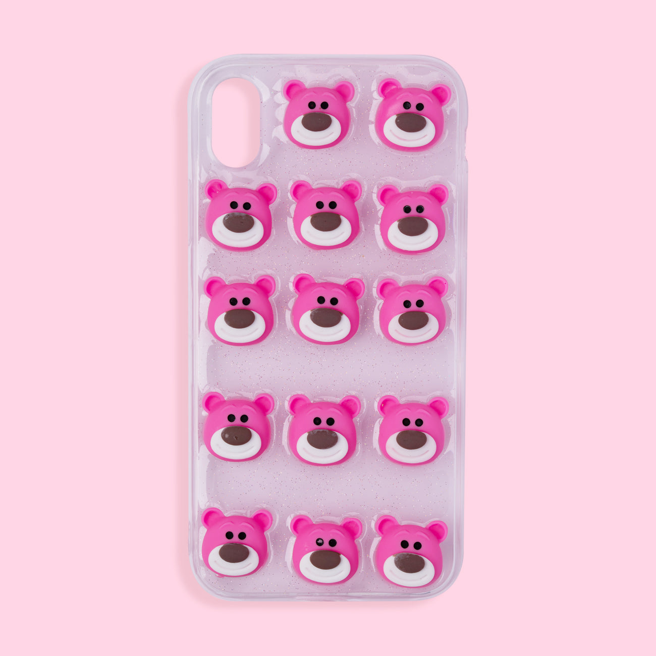 iPhone XR Case - 3D Bear - Pink