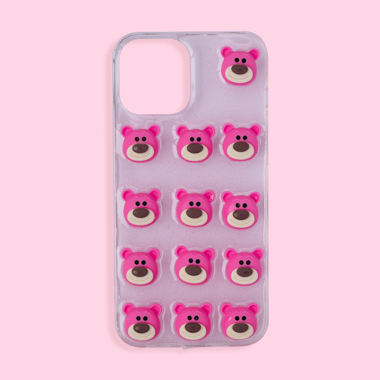iPhone 12 Pro Max Case - 3D Bear - Pink
