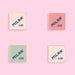 Milan Square Eraser 430 - Set of 4