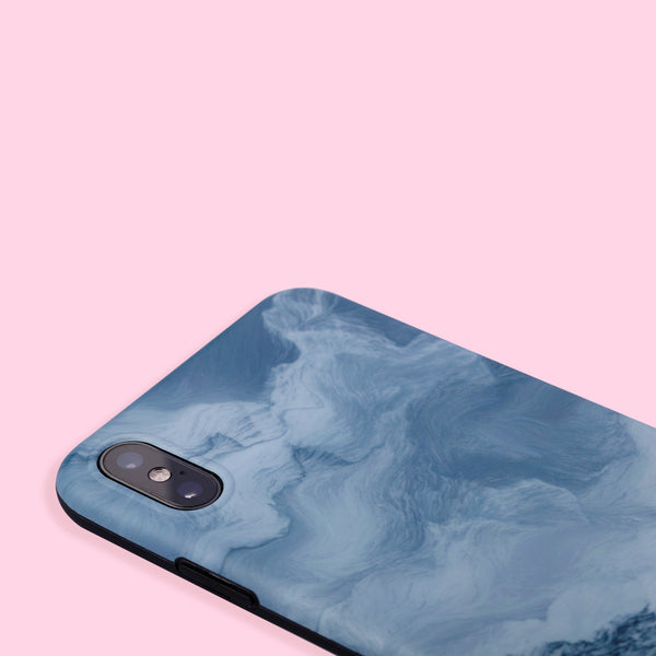 iPhone XS Max Case - Oil Painting - Blue