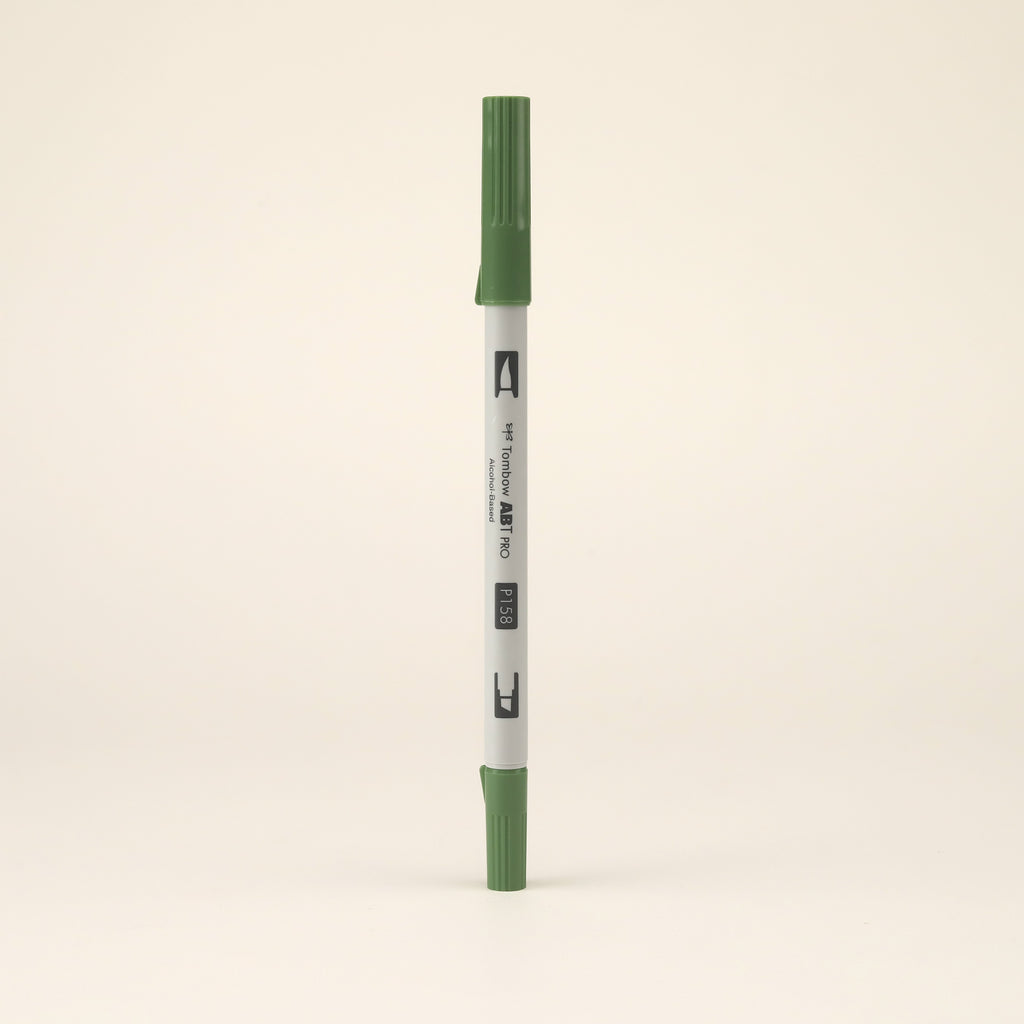 Tombow ABT PRO Alcohol-Based Art Marker - Dark Olive - P158