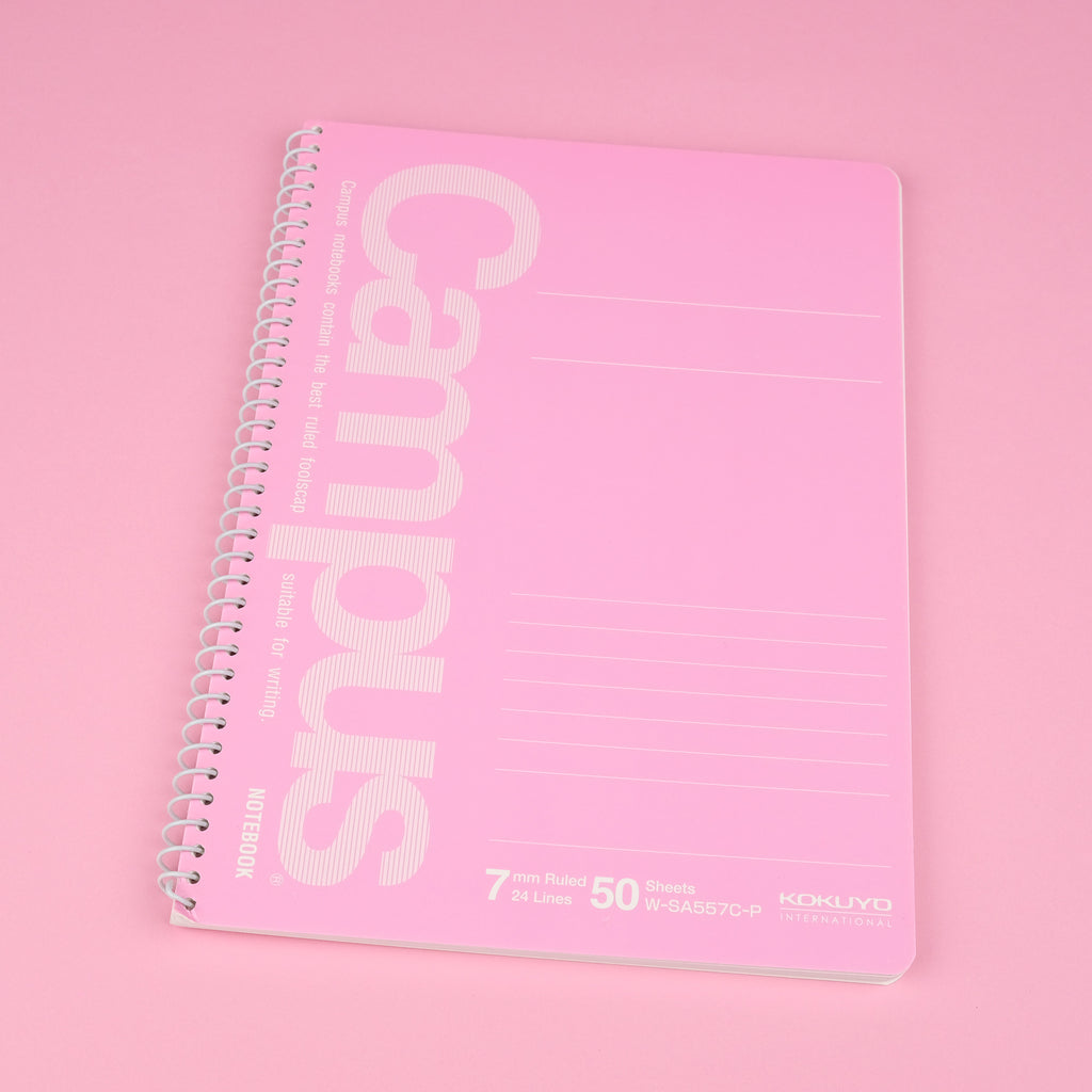 Kokuyo Campus Ring Notebook - A5 - 7 mm Ruled - Pink