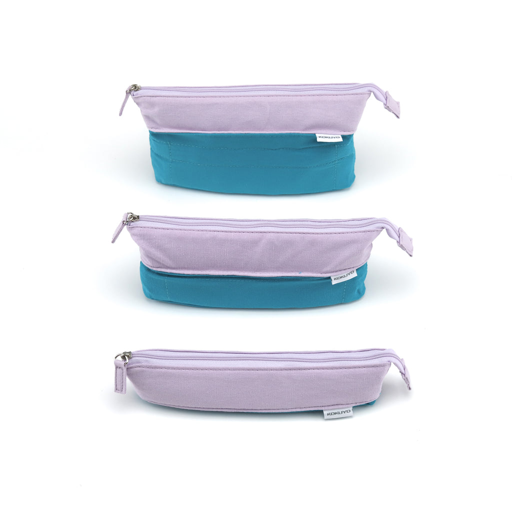 Kokuyo Novita-Oli Pen/Pencil Case - Lilac + Green