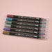 Kuretake Zig Clean Colour Dot Metallic Double-Sided Marker - 6 Color Set