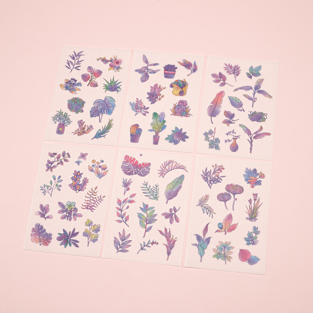 Colorful Leaf Stickers