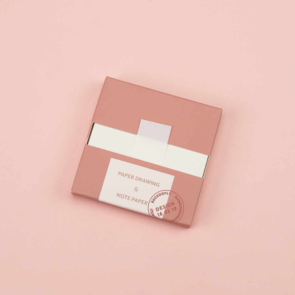 Morandi Color Pull-Out Sticky Notes - Pink