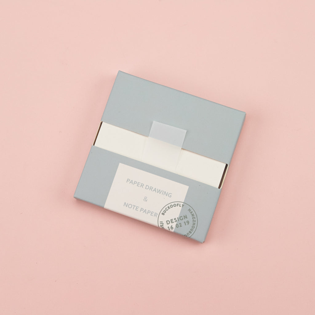 Morandi Color Pull-Out Sticky Notes - Blue