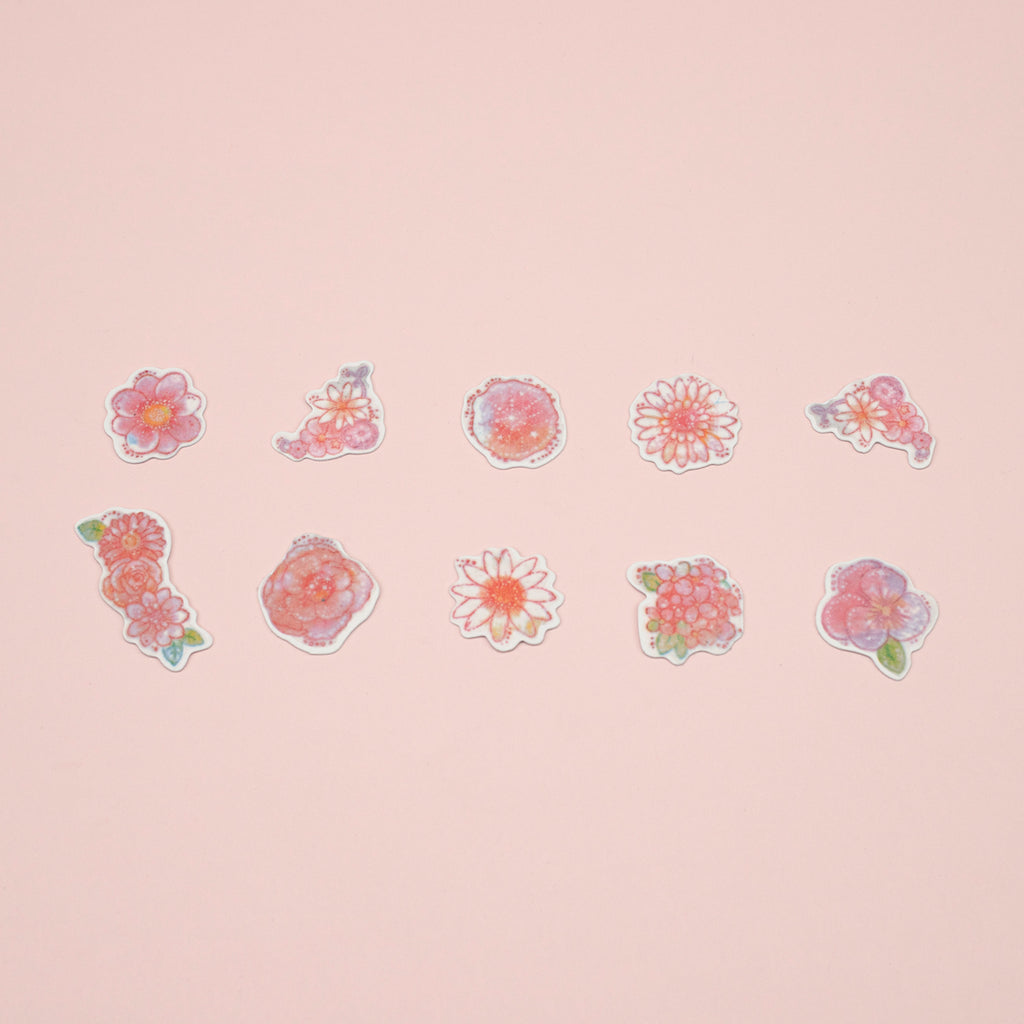 Kamio Watercolor Stickers - Flower