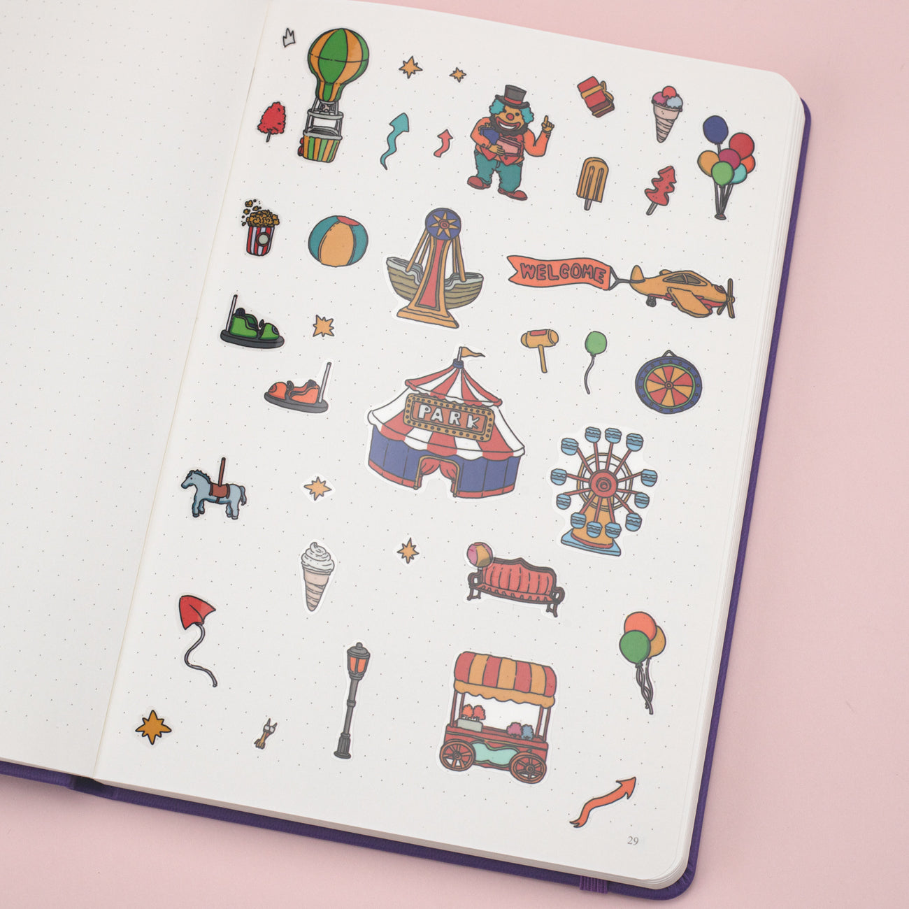 Stationery Pal Original Stickers - Carnival