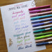Pentel Fude Touch Brush Sign Pen - 2020 New Colors Swatches