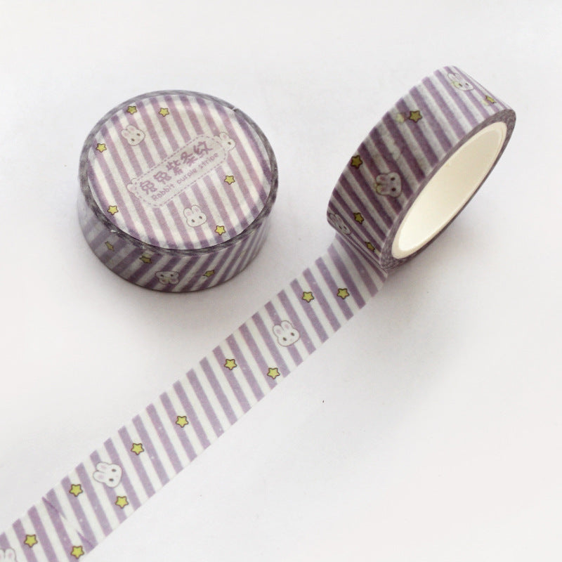 Rabbit Purple Stripe Washi Tape