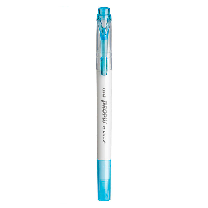 Uni Propus Window Double-Sided Highlighter - Light Blue - 2020 New Color