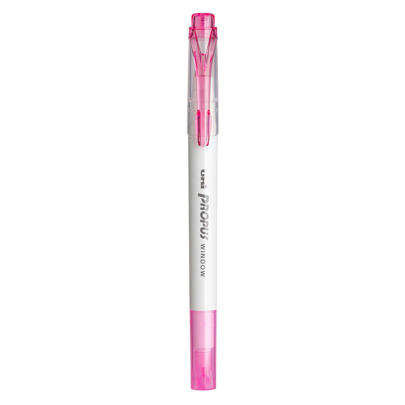 Uni Propus Window Double-Sided Highlighter - Light Pink - 2020 New Color