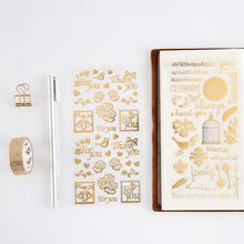 Load image into Gallery viewer, Twinkle Gold Foil Stickers (Set of 4) - Stationery Pal - Online Shop Study & Office Supplies Planner Addict Scrapbooking Bullet Journal Bujo Pens Notebooks