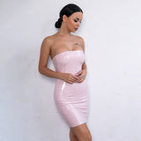 Riva Latex Dress - Pink