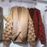 Twisted Knit Chunk Cardigan