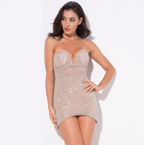 Sequin Sweetheart Silver