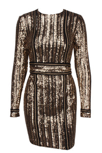 Chained Sequin Dress