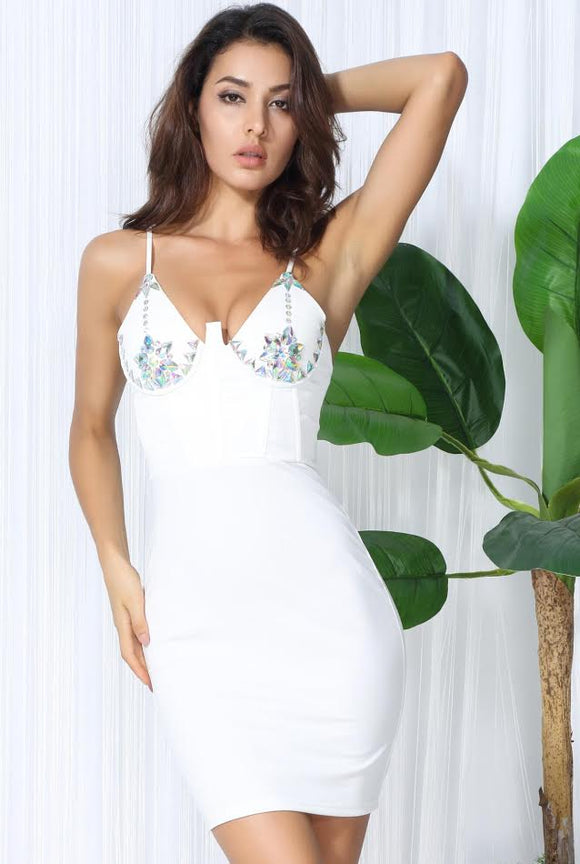 White Jewel Dress