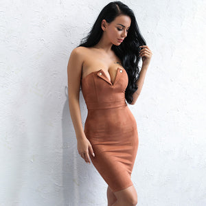 Mina Suede Dress