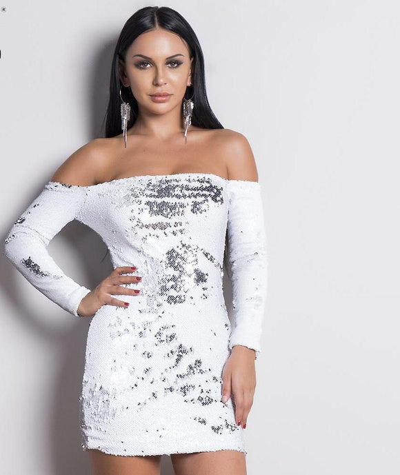 Snow Sequin Dress