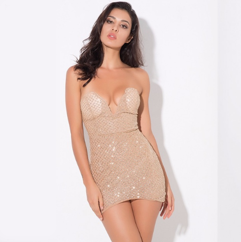 Sequin Sweetheart Gold